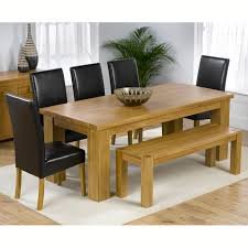 Dining Table Chairs And Bench Set Valencia Oak 200cm Dining Table With Bench And 5 Normandy Chairs