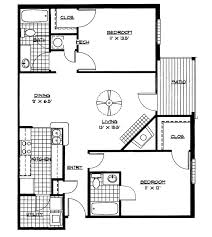 Two Bedroom Houses Floor Plans For Two Bedroom Homes With Small House Ideas About