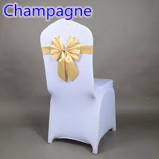 Champagne Chair Sashes Champagne Colour Chair Sash Butterfly Style Bow Tie Stretch Sash