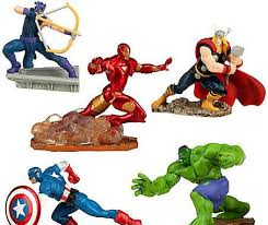 marvel cake toppers set of 5 cake toppers marvel birthday by cakesnotincluded
