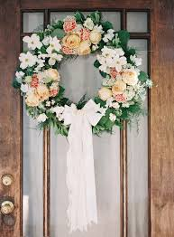 wedding wreaths picture of diy wedding door wreath