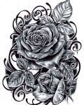four roses tattoo design