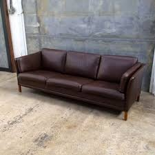 Leather Mid Century Sofa Mrmod Danish Modern Midcentury Sofa Settee Leather 3 Seater Mr