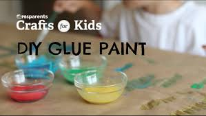 diy glue paint crafts for kids pbs parents youtube