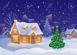 Christmas House by Vector Illustration Of A Snowy Christmas Suburbia Royalty Free
