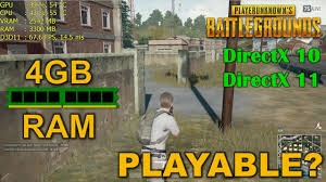 pubg 4gb ram playerunknown s battlegrounds with 4gb of ram is it playable