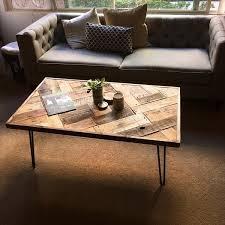 Rustic Coffee Table Diy Diy Pallet Mosaic Coffee Table With Steel Legs 101 Pallets