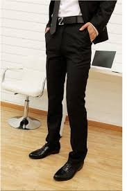 fashion trends formal black dress pants slim fit combined with
