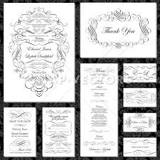 vector ornament wedding invitation set snap vectors
