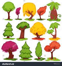 trees vector flat icons set set stock vector 603592580 shutterstock