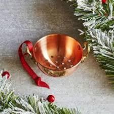 williams sonoma mini copper kitchen ornaments for tabletop