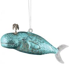 glass whale ornament everything turquoise