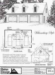 colonial garage plans colonial style 3 car garage plan with loft 975 3 by behm design