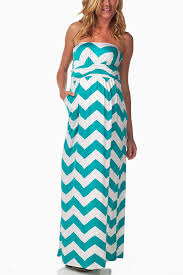 chevron maxi dress turquoise white chevron maternity maxi dress