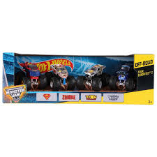 scooby doo monster jam truck toy wheels monster jam tour favourites 4 pack assorted big w