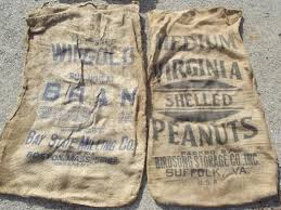 burlap sacks farm feed bags for primitive print fabric