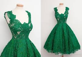 emerald green 2017 short prom dresses real sample lace a line