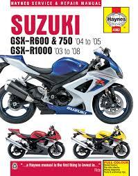 suzuki gsx r600 u0026 750 04 05 u0026 gsx r1000 03 08 haynes repair