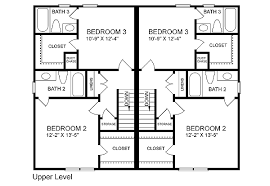 family floor plans multi family plan 45370 at familyhomeplans com