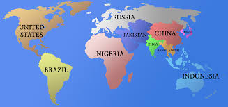 World Map Countries An Oversimplified Political Map Of The World Only The Ten Most