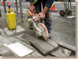 How To Cut Patio Pavers Without A Saw Pavingexpert Aj Mccormack And Son Cutting Tools And Their