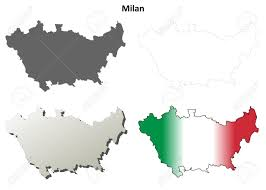 Milano Italy Map by Milan Province Blank Detailed Outline Map Set Royalty Free