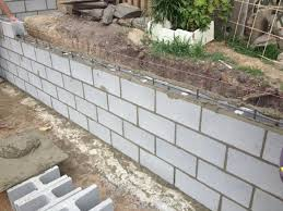 cinder block retaining wall design how to build a concrete block
