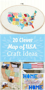 20 clever map of usa craft ideas easy tip junkie