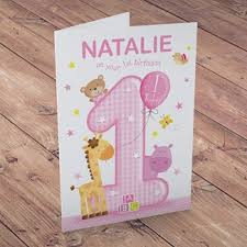 personalised 1st birthday cards from 1 49 gettingpersonal co uk