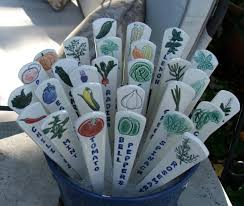 Gifts For Vegetable Gardeners by Set Of Three Ceramic Garden Markers Vegetables And Herbs