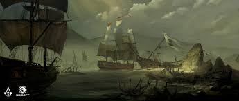 Assassin S Creed Black Flag Gameplay Image Ac4 Ship Graveyard Concept Art Jpg Assassin U0027s Creed