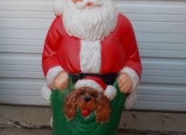 mold yard lawn decor light display plastic santa claus 46quot