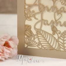 pearlescent flower and names laser cut personalised wedding
