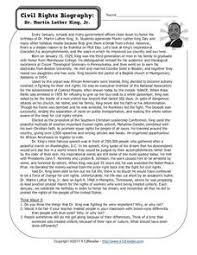 biography for martin luther king martin luther reformation lesson plans worksheets