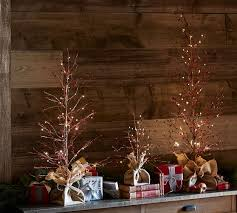 lit berry trees pottery barn