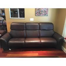 high back leather sofa ekornes stressless paradise high back leather sofa chairish