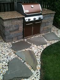 custom built grill with beautiful countertops easy outdoor