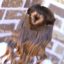 bun holder fashion women hair updo heart shaped hair disk curler holder magic