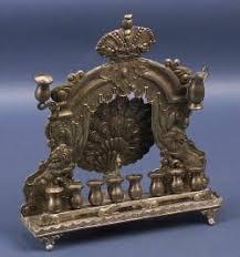 antique menorah unknown antique silver peacock hanukah l judaica menorah