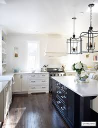 White Kitchen Black Island Twenty Gorgeous Black U0026 White Kitchens To Inspire