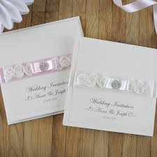 Wedding Stationery Luxury Handmade Wedding Invitations With Beautiful Roses