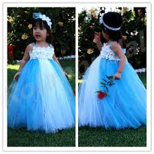 2015 new flower dresses elsa ice princess inspired tutu dress