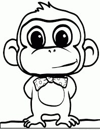 cute baby monkey coloring pages monkey coloring pages