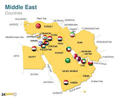 middle east map and capitals middle east countries powerpoint map
