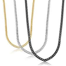 curb chain necklace fashion images Jstyle stainless steel link curb chain necklace for men women 3 jpg