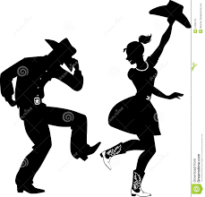 silhouette of country western dancers stock vector image 51035710