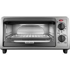 Under Cabinet 4 Slice Toaster by Black Decker 4 Slice Toaster Oven Metallic Black To1322sbd
