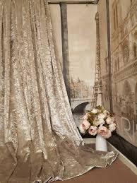 Velvet Curtains Stunning Heavy Champagne Crushed Velvet 111