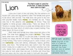 reading comprehension passages animals digital u0026 printable bundle