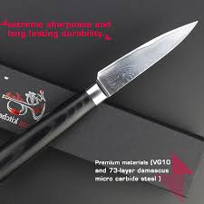 3 5 inch paring knives damascus kitchen knife vg10 stainless steel 3 5 inch paring knives damascus kitchen knife vg10 stainless steel utility peel fruit carving knife micarta handle free shipping in kitchen knives from home